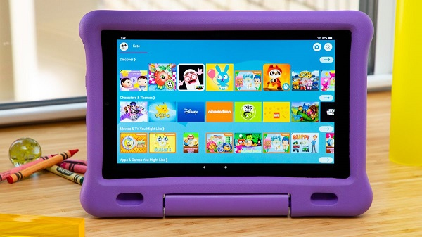 A Tablet Showing Various Images For Preschooled Kids.