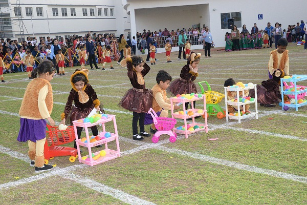 Kids Participating In A Toys Relevant Activity In Kindergarden Sports Day.