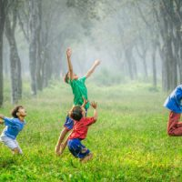 Active Kids Playing With Nature - Nature Activity.