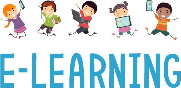 Vector Image Of E-Learning Concept.