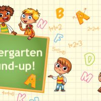 Kindergarden Round Up -Vector Image.