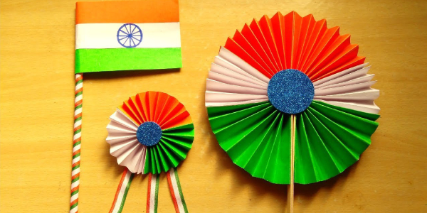 A Craft Making With Sharpener Trashes - Resemblance Of Tricolors.