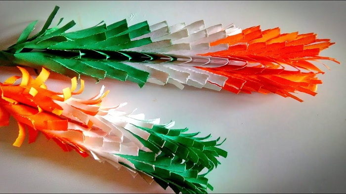 Resemblance Of Tricolors By Using Color Papers - Republic Day Concept.