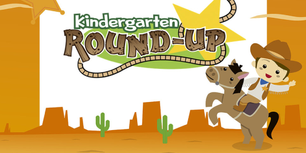 A Banner Representing Kinder Round Up Concept.