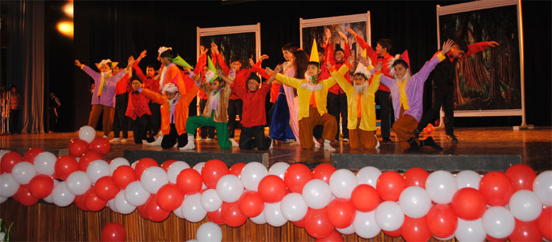 Dance Performance By Kindergarden Kids During Annual Day Celebrations.
