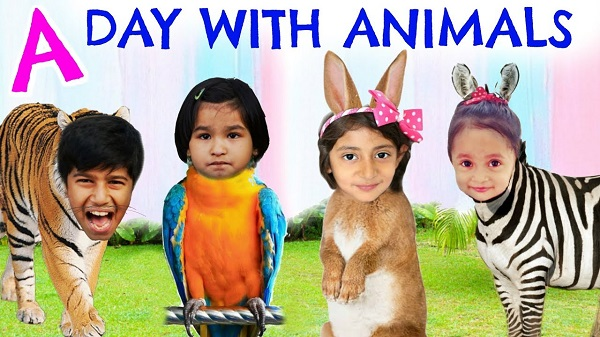 Kids Show Their Faces In Animal Bodies - Fun Element.