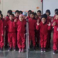 Kids Singling Rhymes During Junior Wing Activity
