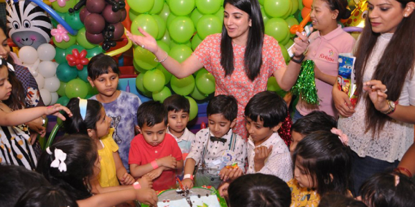 Kids Enjoying While Welcome Party In Kindergarden