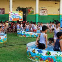 Pool Party In Kindergarden